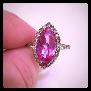 Jewelry - Pink and White Sapphire Ring